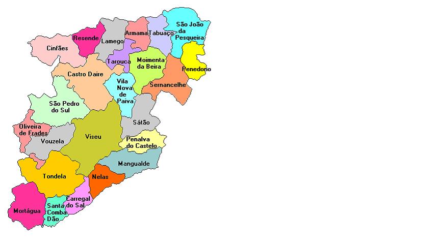 mapa freguesias viseu Distrito de Viseu ( freguesias e municípios ) mapa freguesias viseu